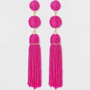 Sugarfix by Baublebar Hot Pink Tassel Ball Earring